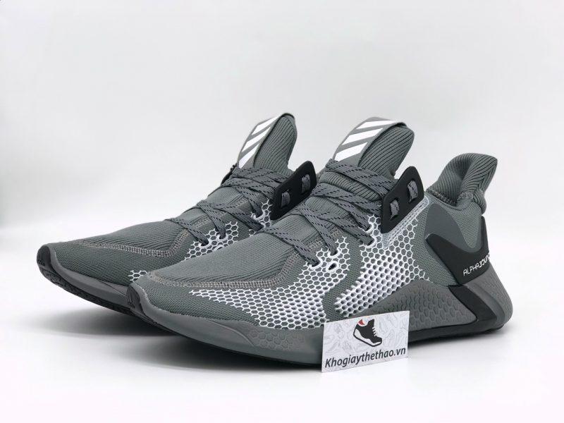 Giày Adidas Alphabounce Instinct M xám bạc rep
