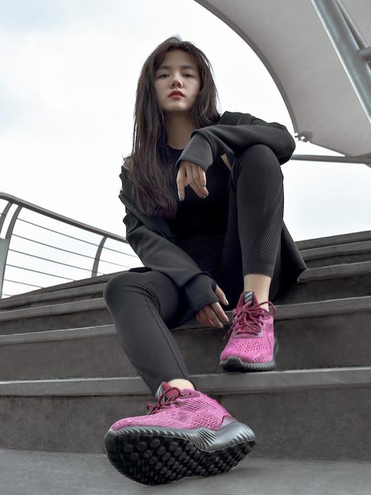 phối đồ nữ adidas alphabounce