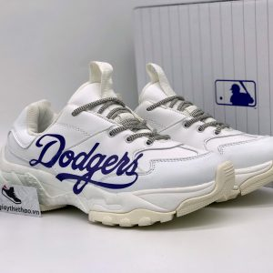 Giày MLB trắng Dodgers chữ xanh rep