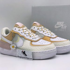 Giày Nike Air Force 1 Shadow 'Daisy - Hoa cúc' Spruce Aura Custom rep
