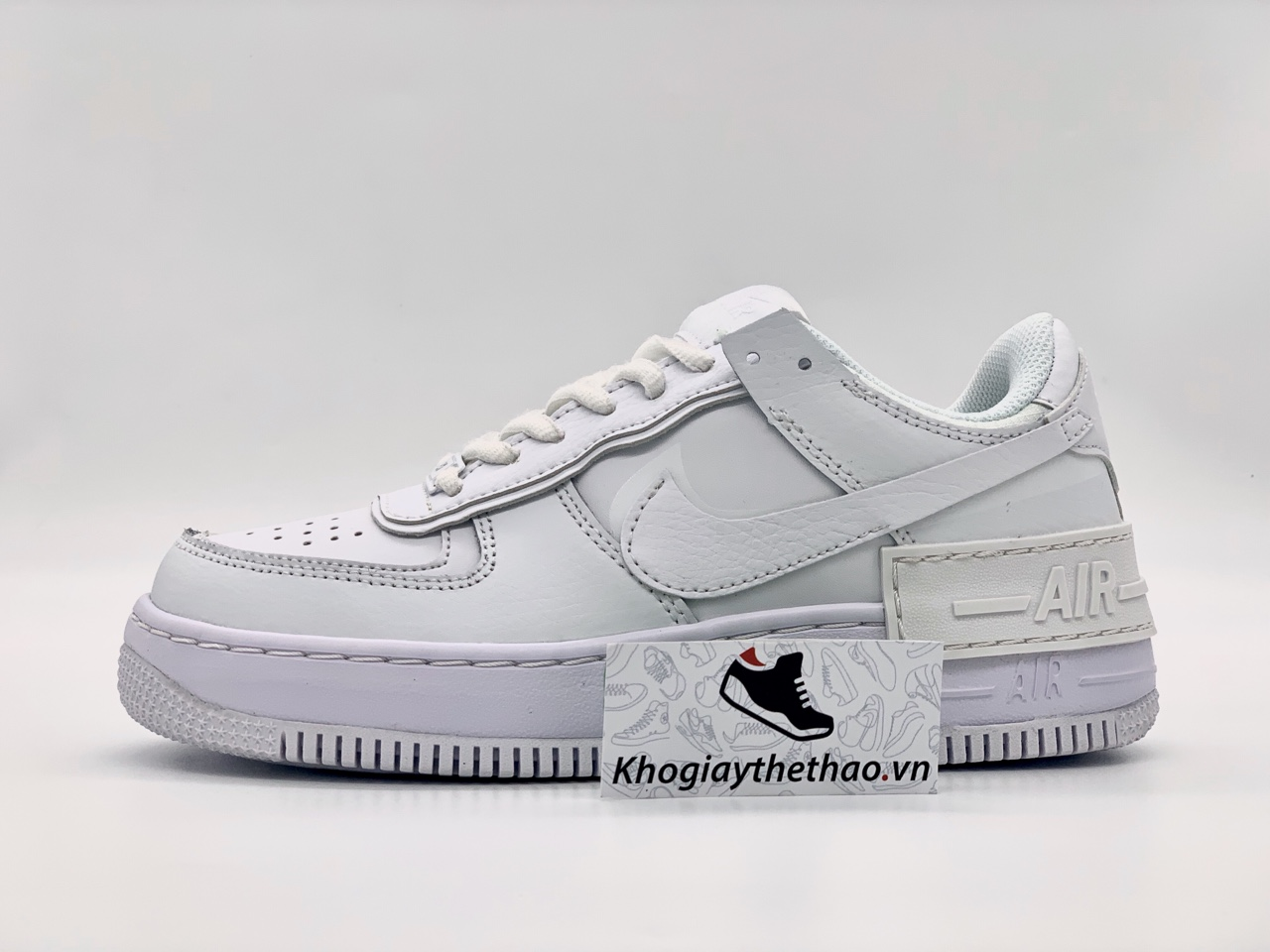 Giày Nike air force 1 Shadow Triple White rep