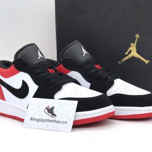 giày nike air jordan 1 low black toe rep
