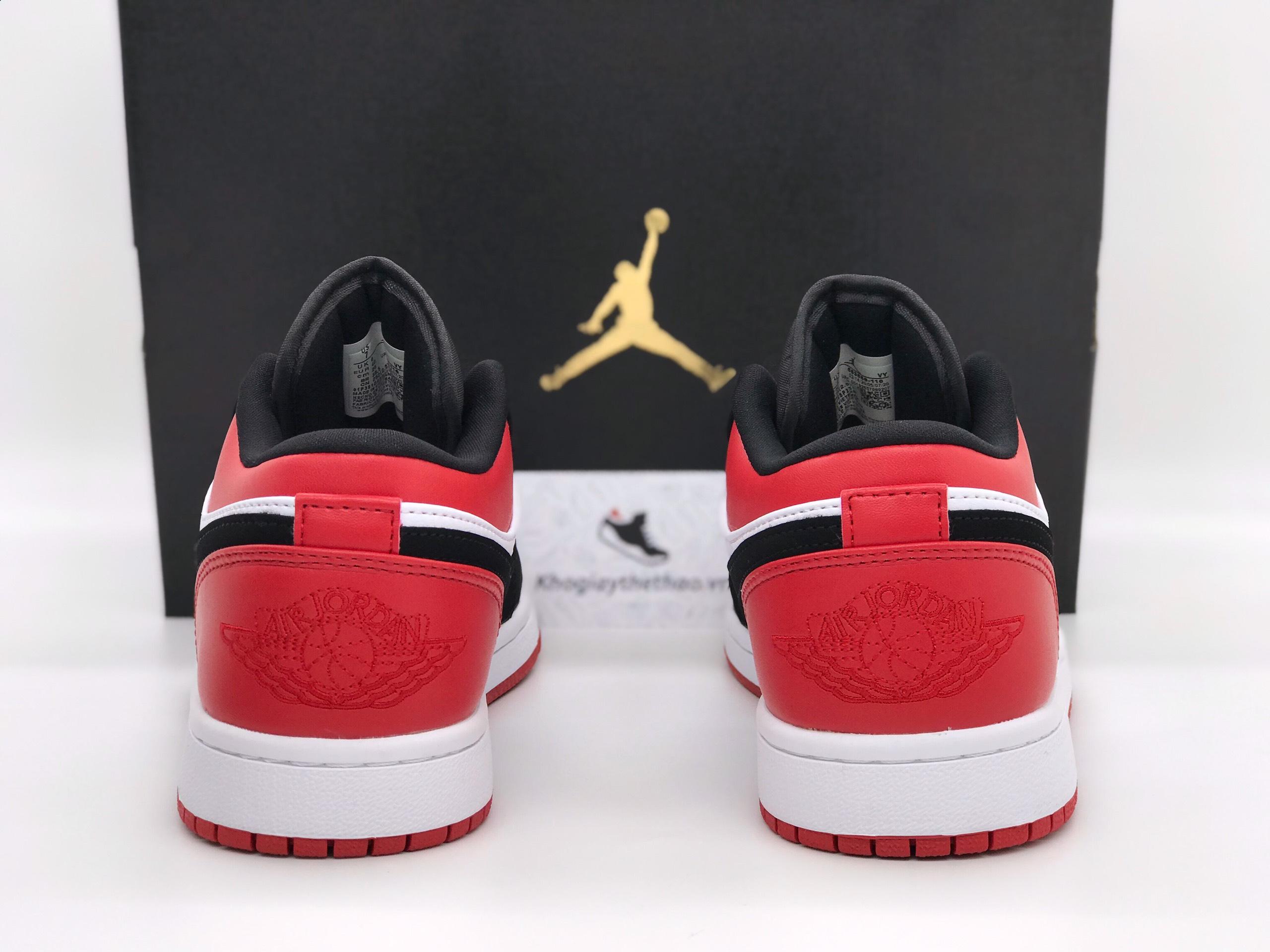 giày nike air jordan 1 low black toe rep