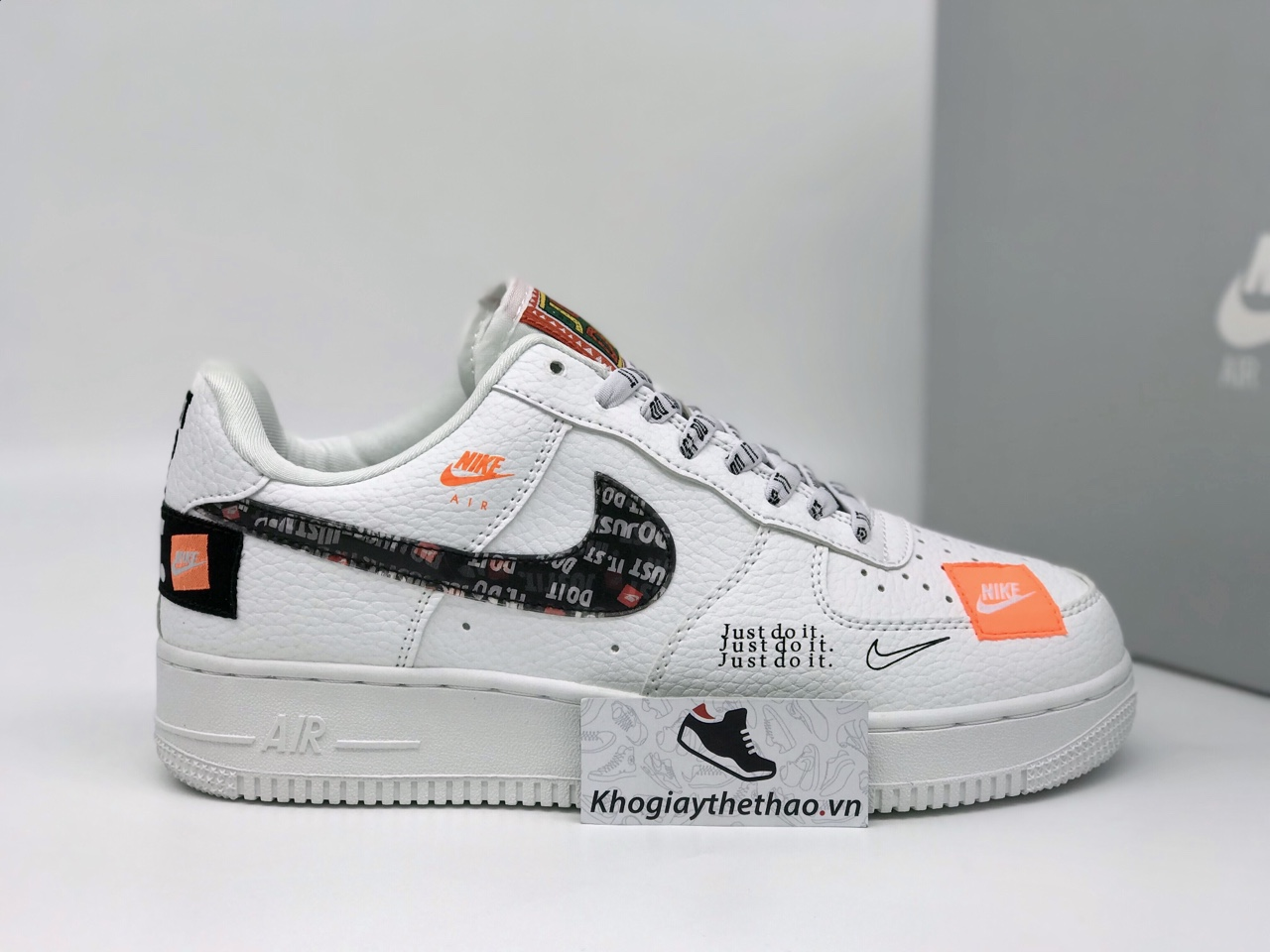 Giày Nike Air Force 1 Just do it cổ thấp rep