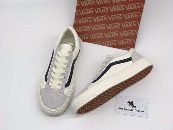 Giày Vans Old Skool trắng sọc xanh rep