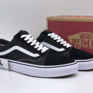 Giày Vans Old Skool đen sọc trắng rep