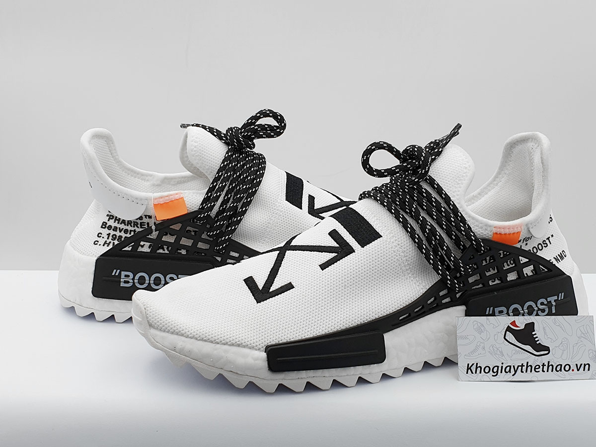 new style b76be bc864 Giày Adidas NMD Human Race Off White SF