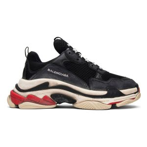 giày balenciaga triple s den do rep