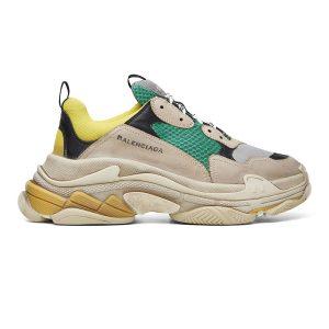 giày balenciaga triple s xanh vàng rep