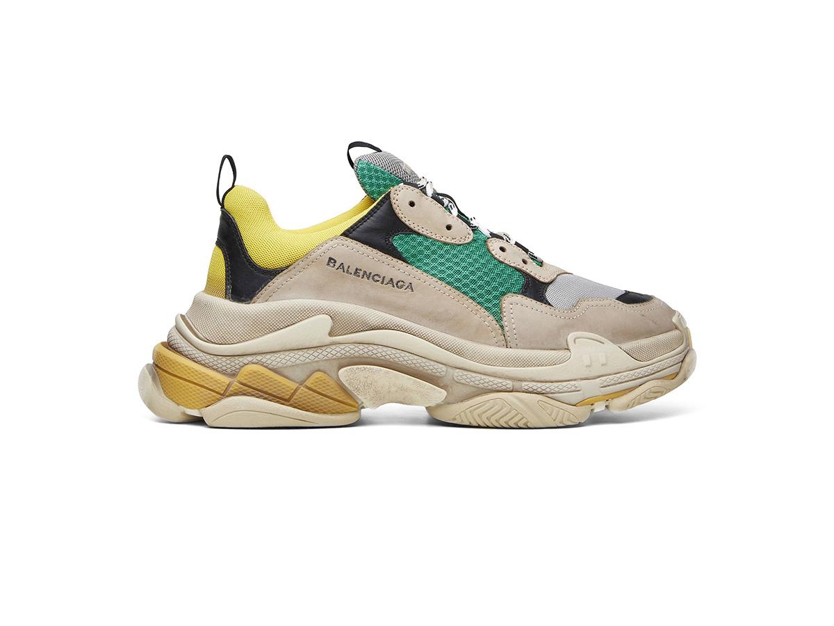 giày balenciaga triple s xanh vang rep