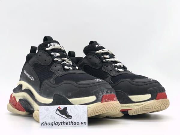 Giày Balenciaga Triple S đen đỏ rep 1:1