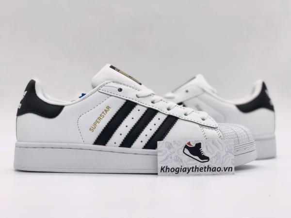 Giày Adidas Superstar trắng sọc đen replica