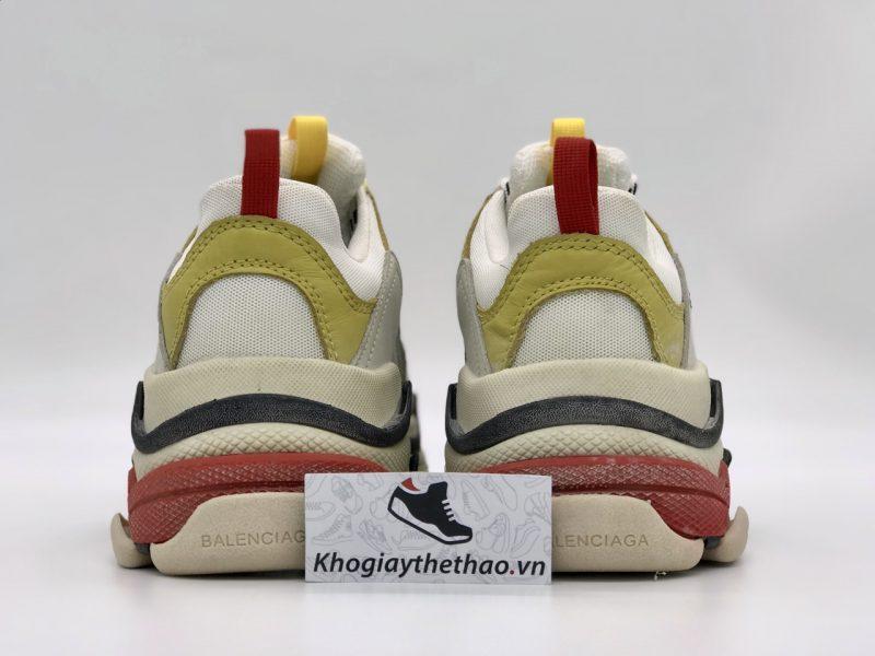 Giày Balenciaga Triple S vàng hồng rep