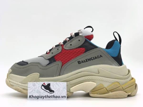 Giày Balenciaga Triple S xanh đỏ rep