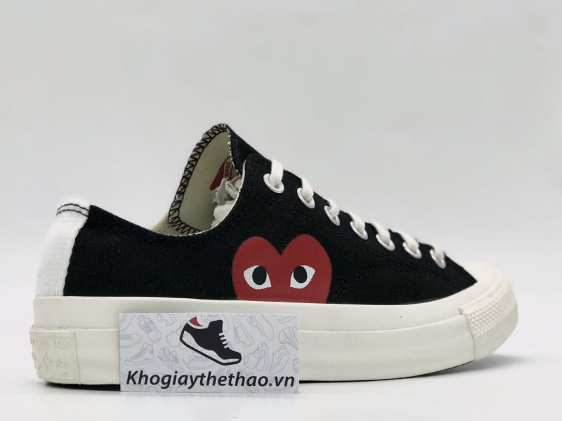 Giày Converse 1970s tim CDG đen thấp cổ rep