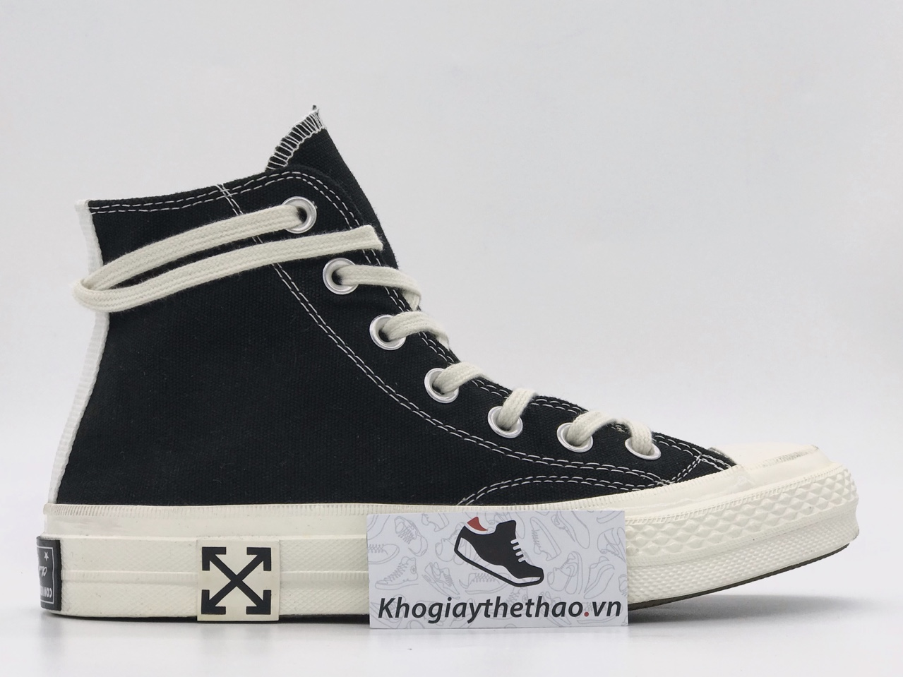 Giày Converse 1970s x off white cao cổ rep