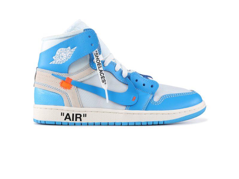 giày nike air jordan 1 off white blue rep