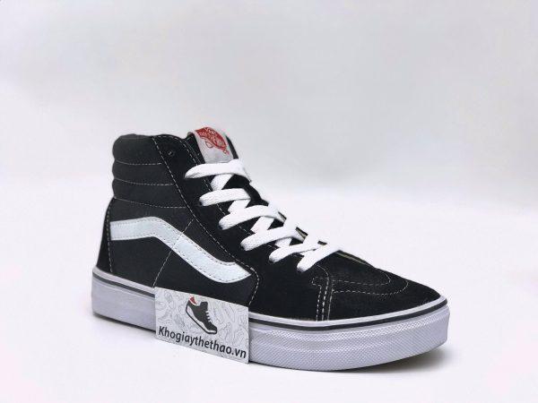 Giày Vans Classic SK8-Hi đen trắng super fake sf