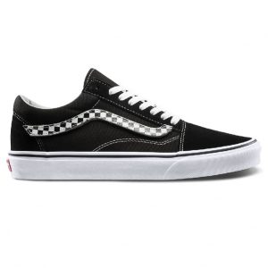 giày vans old school đen sọc caro sf
