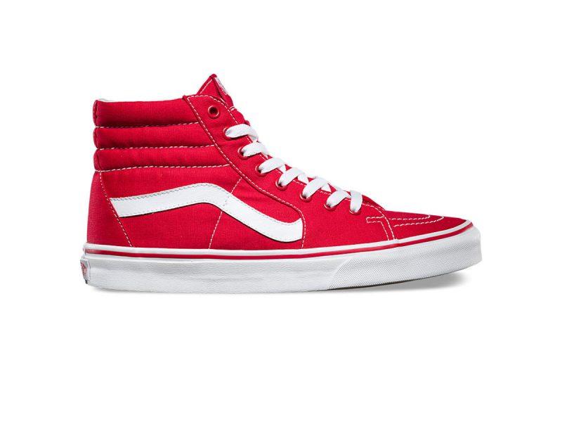 Giày Vans SK8 Hi đỏ trắng REP