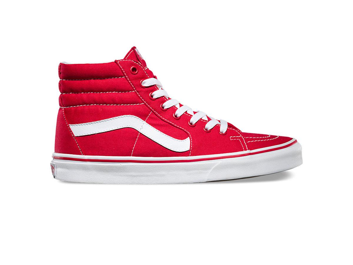 Giày Vans SK8-Hi đỏ trắng REP