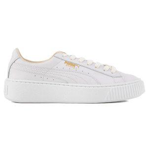 giày puma trắng chữ vàng