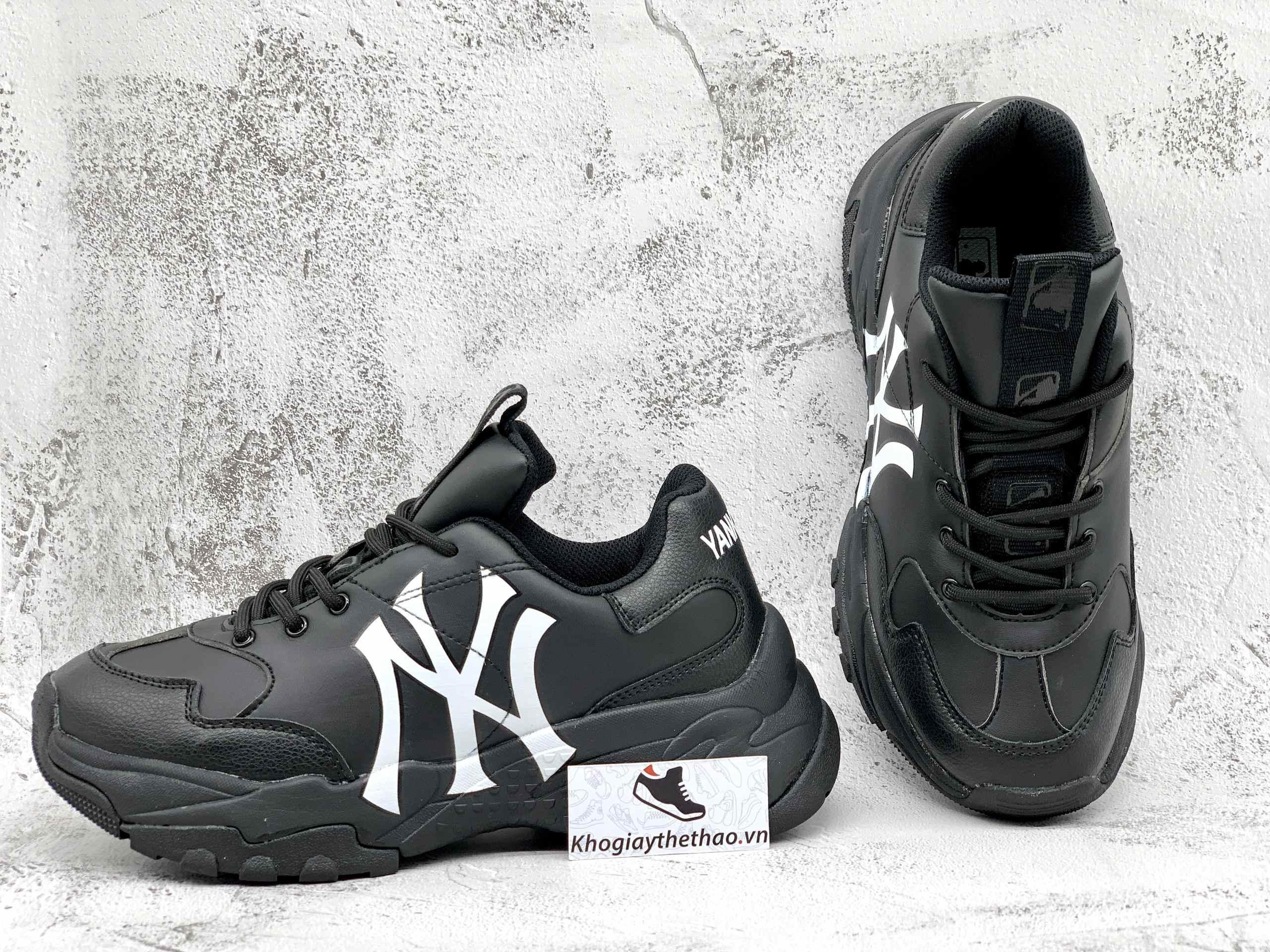 giày mlb ny chunky đen