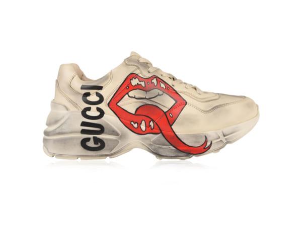 Giày Gucci Chunky họa tiết môi bản bẩn Replica - khogiaythethaovn