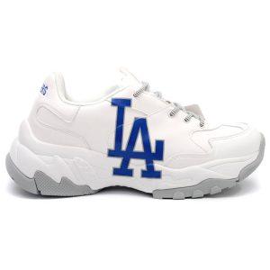 giày MLB LA chữ xanh Rep