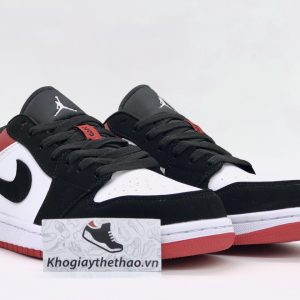Giày Nike air Jordan 1 Black Toe Low rep