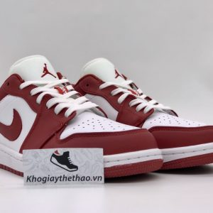 Giày Nike air Jordan 1 Gym Red White Low rep