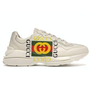 Giày Gucci Rhyton Logo Ivory