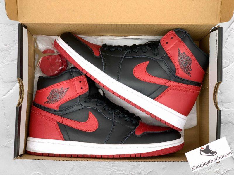 Box Giày Nike Air Jordan 1 cao cổ Bred