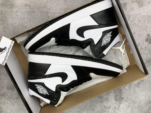 Giày Nike air Jordan 1 High black white replica