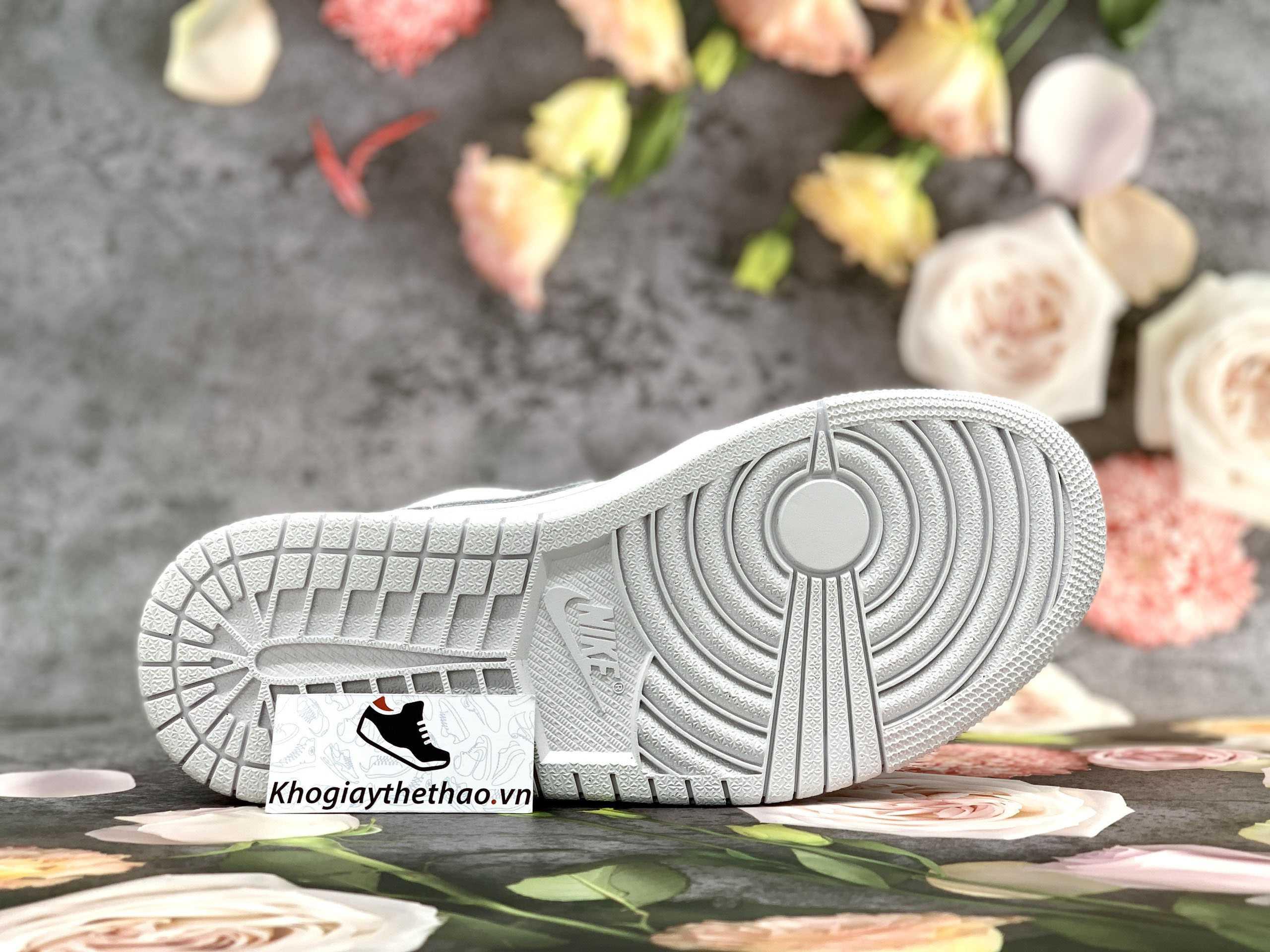 đế giày jordan 1 low triple white