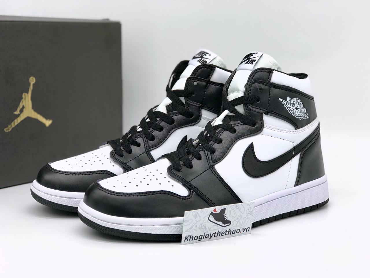 Giày nike air jordan 1 high đen trắng rep