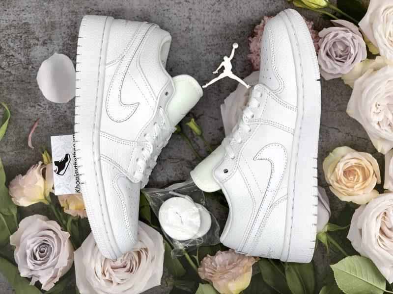 giày jordan 1 low triple white