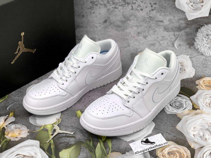 giày jordan 1 low trắng full