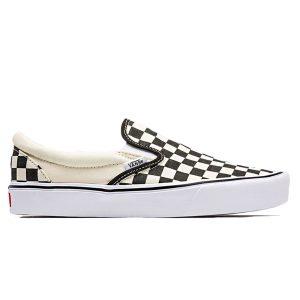 Giày Vans Vault Checkerboard Slip on trắng đen
