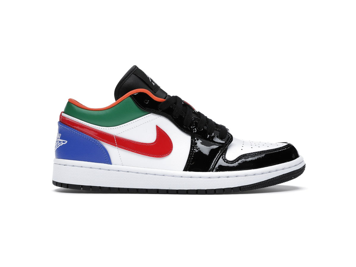 Nike Air Jordan 1 Low Multi-Color Black Toe replica