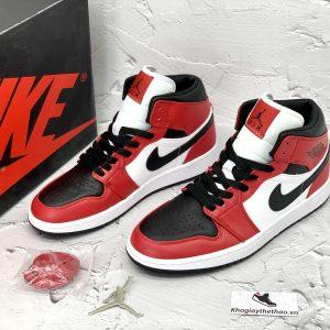 Hộp Nike Air Jordan 1 Mid Chicago Toe