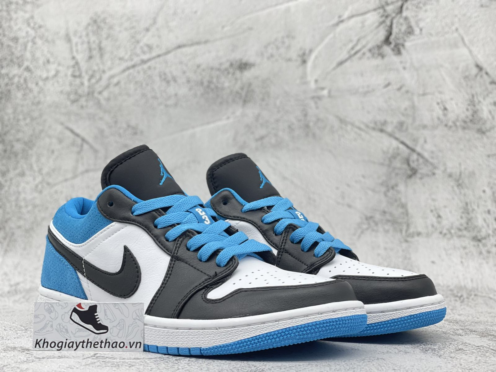 Giày Air Jordan 1 Low Laser Blue