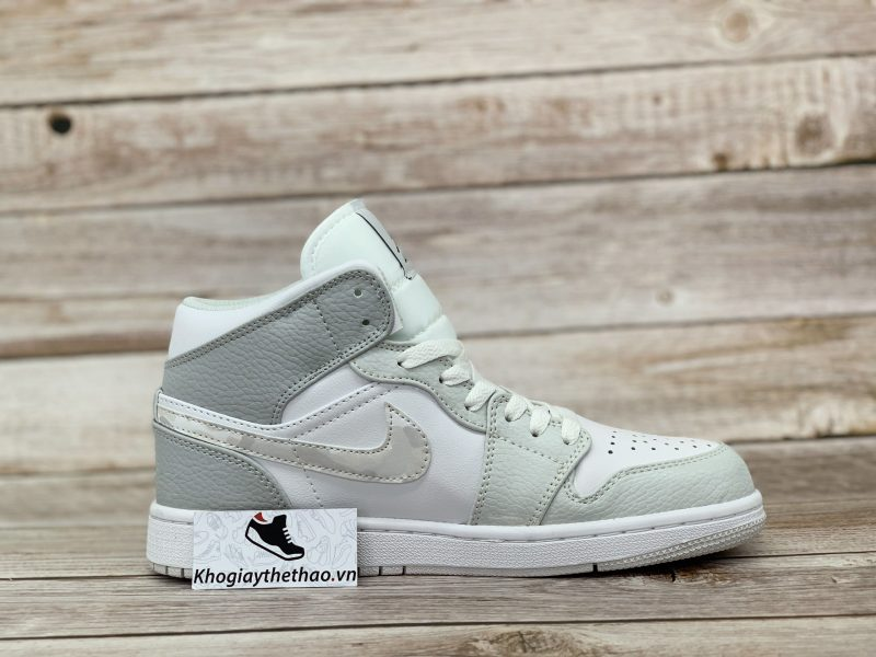 Giày Nike Air Jordan 1 Mid Grey Camo