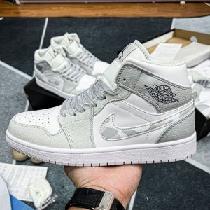 Giày Nike Air Jordan 1 Mid Grey Camo 1 1