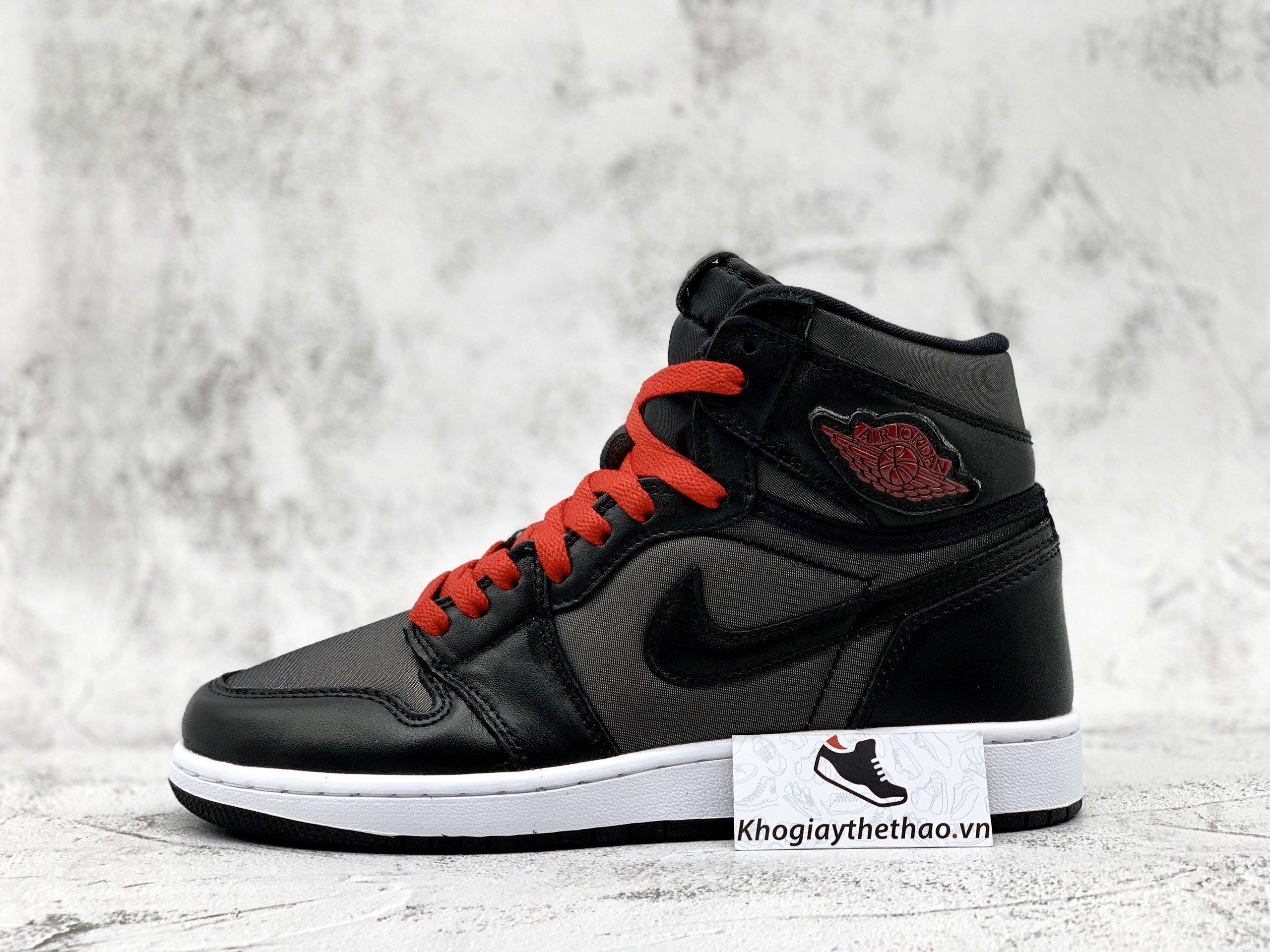 Giày Nike Air Jordan 1 Retro High Black Gym Red Black