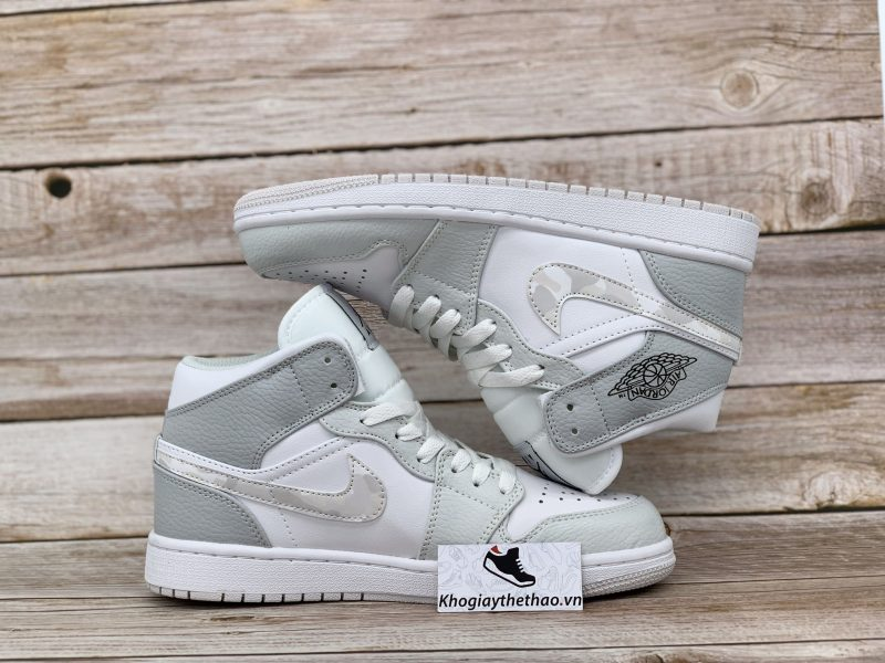 Giày Nike Jordan 1 Mid Grey Camo rep