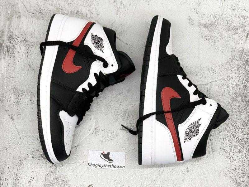Nike Air Jordan 1 Mid Black Chile Red White