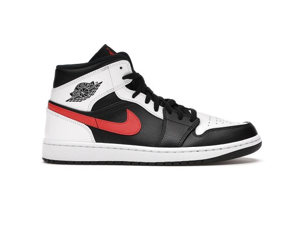 Nike Air Jordan 1 Mid Black Chile Red White