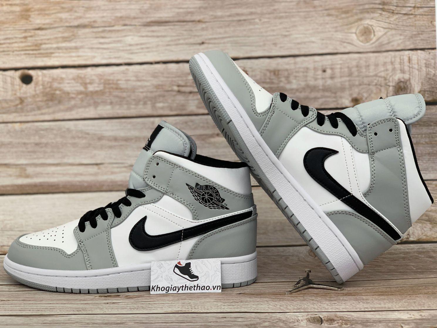 Giày Nike Air Jordan 1 Mid Light Smoke Grey rep 11