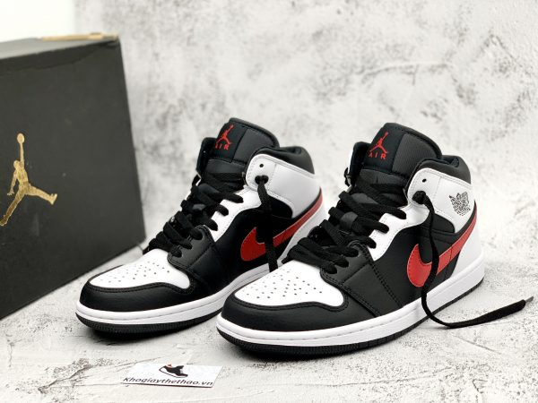 Giày Nike Air Jordan 1 Mid Black Chile Red